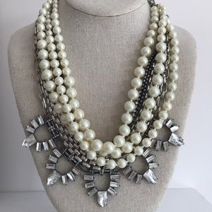 Stella & Dot Starlet Pearl Necklace